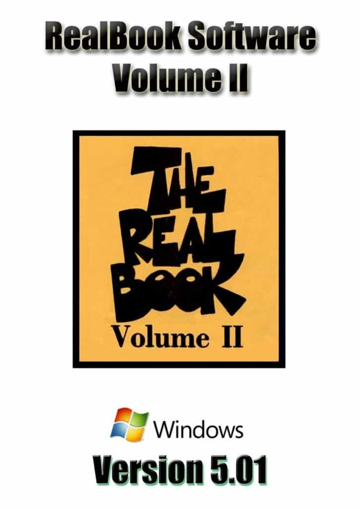Real Book Software Volume 2 For Windows
